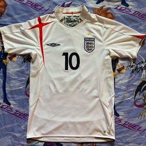 Vintage England Michael Owen Jersey